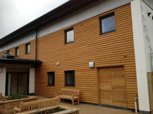 wooden external cladding