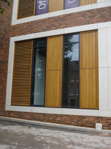 wooden cladding surrounding windows