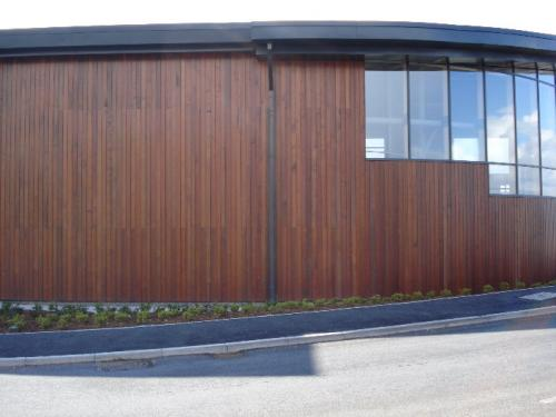dark wood cladding