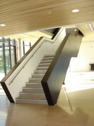 wooden cladding staircase