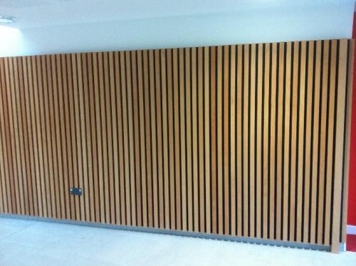 wooden cladding on floor