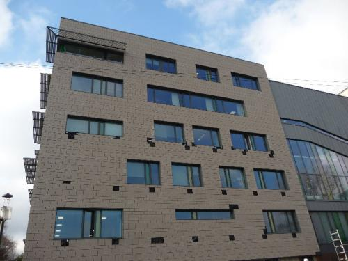 external clad building