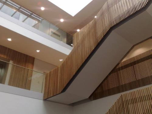 wooden clad stairs